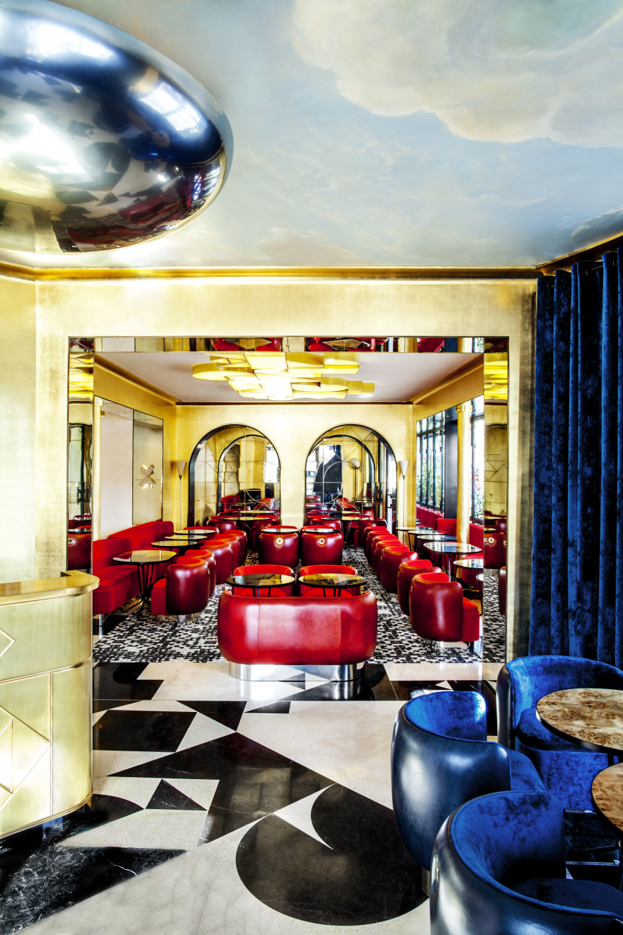 Best hospitality projects by India Mahdavi_Café français