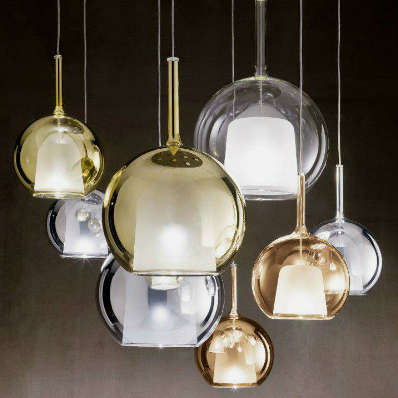coveted-From-Nature-to-artisan's-golden-hands-silverand-gold-Luxury-Pendant-Light-with-Bubble-like-Glass-Around-It