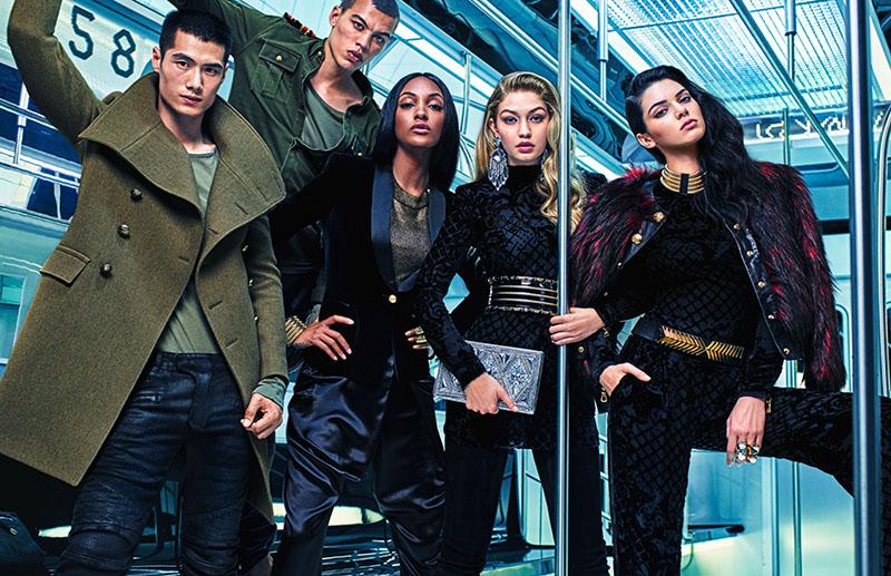 H&M-2016-balmain-hm-gigi-hadid-kendall-jenner-Jourdan-dunne H&M and Balmain Paris new collaboration HM 2016 balmain hm gigi hadid kendall jenner Jourdan dunne