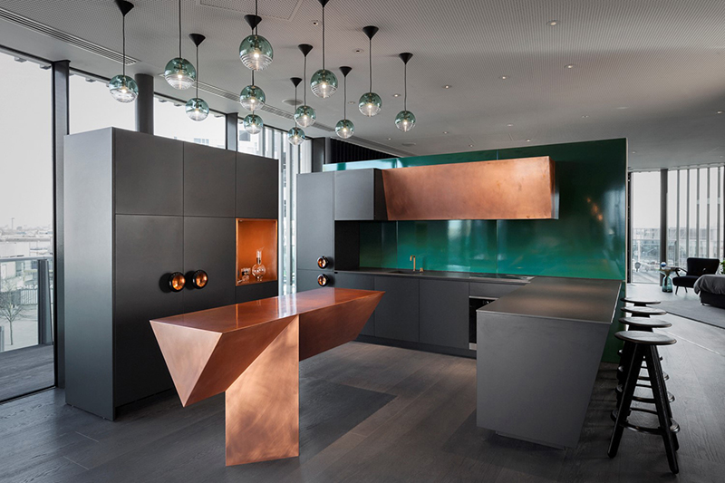 Astonishing Apartment by Tom Dixon Studio Third Floor Kitchen