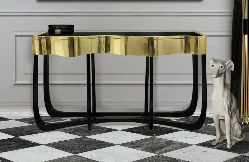 boca-do-lobo modern console tables Modern Console Tables for Contemporary Interiors boca do lobo 2