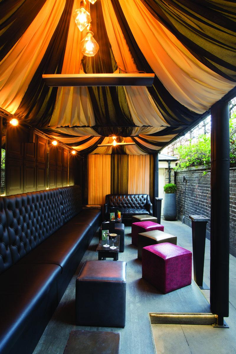Private Members Club, London; Outdoor Cigar Snug 1 Eliská Exclusive Interview