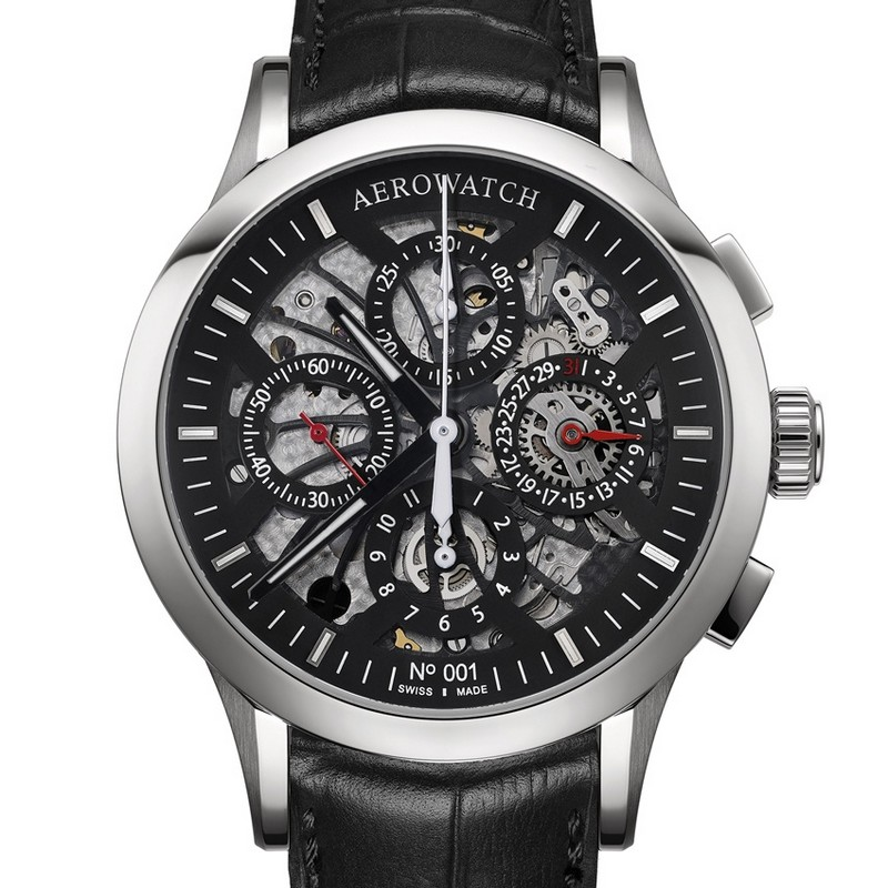 Les Grandes Classiques – NUMBERED Semi-Skeleton Chronograph - Aerwatch baselworld 2017