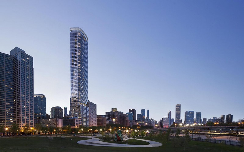 Chicago's 1000M Tower is Ready to Stand Tall. To see more news about travel, subscribe our newsletter right now! #1000M #1000Mtower #chicago1000M #helmutjahn #karamann #luxurybuildings #chicagobuildings #chicagosouthloop #chicagoskyline #lakemichigan #grantpark