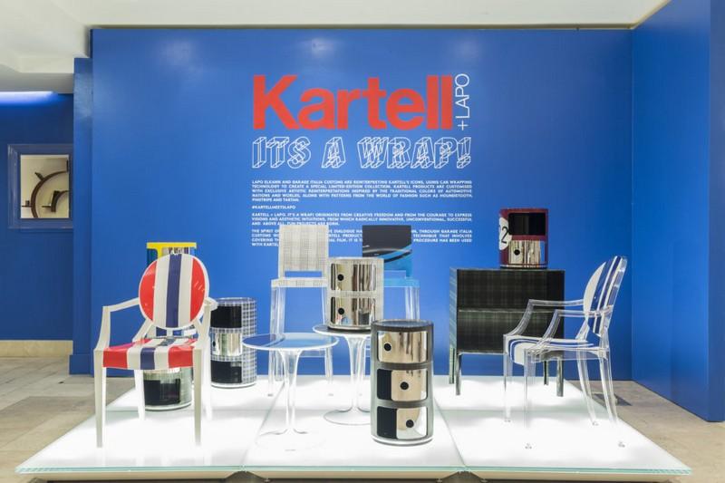 Garage Italia Customs Reinterprets Kartell at Barneys New York. To see more news about design, subscribe our newsletter right now! #kartell #garageitaliacustoms #barneysnewyork #lapoelkann #antoniocitterio #annacastelliferrieri #philippestarck #tokujinyoshioka #luxurybrands