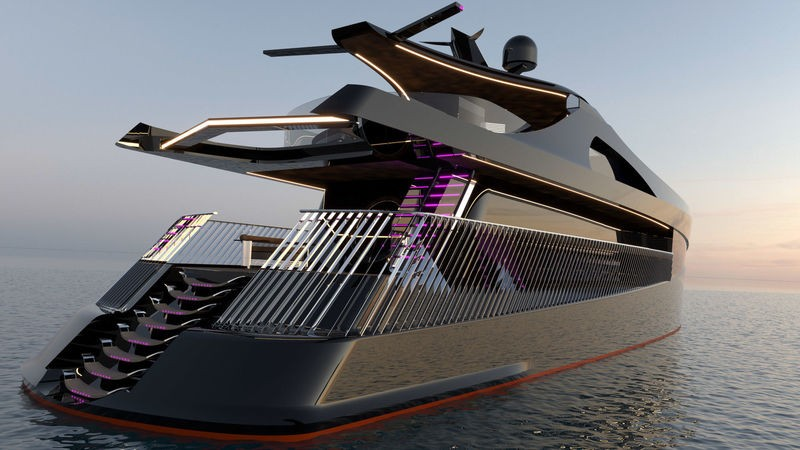 Contemplate the Latest Superyacht Concept Arnela by Edvin Hadzidedic 2