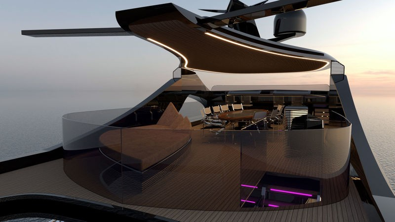 Contemplate the Latest Superyacht Concept Arnela by Edvin Hadzidedic 4
