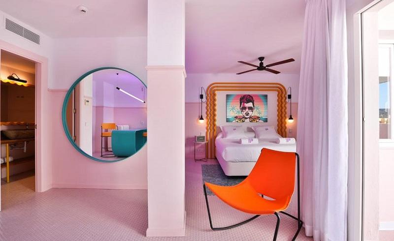 A Colorful Interior Design At Paradiso Ibiza Art Hotel Ibiza, Spain ➤ #covetedmagazine #luxurymagazine #luxuryliving #interiordesign #homedecor #milandesignweek2019 #salonedelmobile2019 #isaloni2019 #maisonetobjet ➤ www.covetedition.com ➤ @covetedmagazine @bocadolobo @delightfulll @brabbu @essentialhomeeu @circudesign @mvalentinabath @luxxu @covethouse_ @rug_society @pullcast_jewelryhardware @bybrabbucontract Colorful Interior Design A Colorful Interior Design At Paradiso Ibiza Art Hotel Ibiza, Spain A Colorful Interior Design At Paradiso Ibiza Art Hotel Ibiza Spain 3