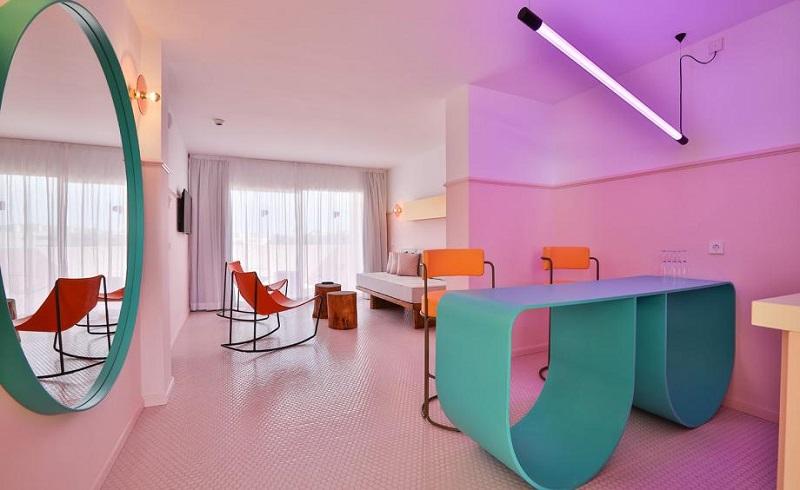 A Colorful Interior Design At Paradiso Ibiza Art Hotel Ibiza, Spain ➤ #covetedmagazine #luxurymagazine #luxuryliving #interiordesign #homedecor #milandesignweek2019 #salonedelmobile2019 #isaloni2019 #maisonetobjet ➤ www.covetedition.com ➤ @covetedmagazine @bocadolobo @delightfulll @brabbu @essentialhomeeu @circudesign @mvalentinabath @luxxu @covethouse_ @rug_society @pullcast_jewelryhardware @bybrabbucontract Colorful Interior Design A Colorful Interior Design At Paradiso Ibiza Art Hotel Ibiza, Spain A Colorful Interior Design At Paradiso Ibiza Art Hotel Ibiza Spain 4