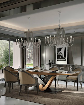 Italian Luxury Interiors By Martini Mobili With New Tables And Chairs 1