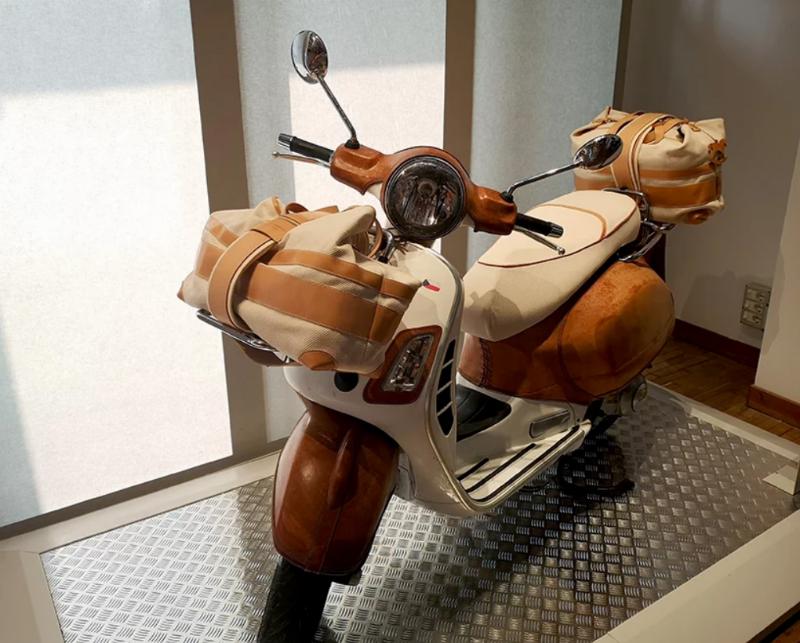 Bottega Conticelli Reveals Leather Covered Vespa at Homo Faber