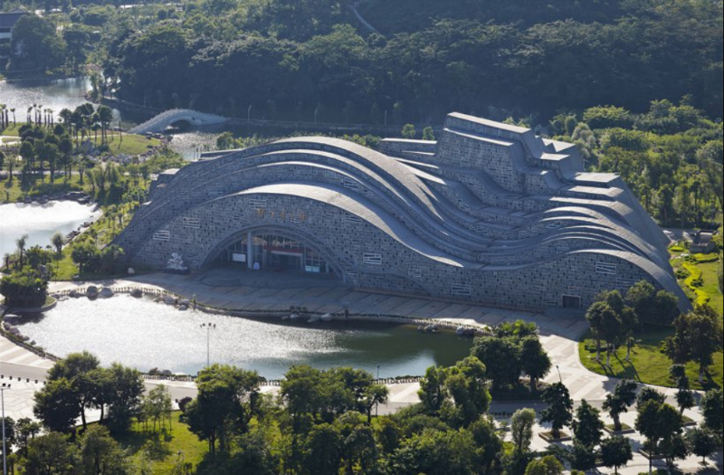The New Amazing Hall in China Wants to Become One With Nature amazing hall The New Amazing Hall in China Wants to Become One With Nature The New Amazing Hall in China Wants to Become One With Nature 2