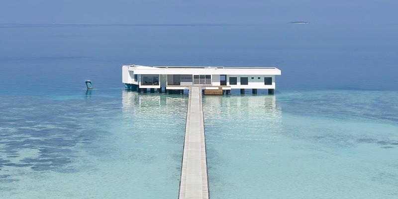 The World's First Underwater Hotel Villa Has Opened in the Maldives Underwater Hotel Villa The World's First Underwater Hotel Villa Has Opened in the Maldives The World s First Underwater Hotel Villa Has Opened in the Maldives 1