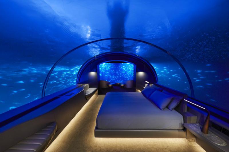 The World's First Underwater Hotel Villa Has Opened in the Maldives Underwater Hotel Villa The World's First Underwater Hotel Villa Has Opened in the Maldives The World s First Underwater Hotel Villa Has Opened in the Maldives 2