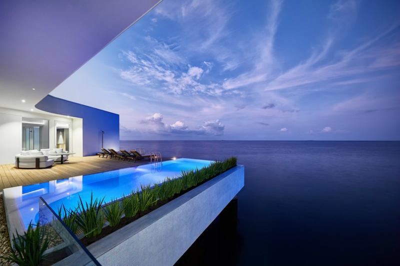 The World's First Underwater Hotel Villa Has Opened in the Maldives Underwater Hotel Villa The World's First Underwater Hotel Villa Has Opened in the Maldives The World s First Underwater Hotel Villa Has Opened in the Maldives 3