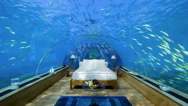 The World's First Underwater Hotel Villa Has Opened in the Maldives Underwater Hotel Villa The World's First Underwater Hotel Villa Has Opened in the Maldives The World s First Underwater Hotel Villa Has Opened in the Maldives 4