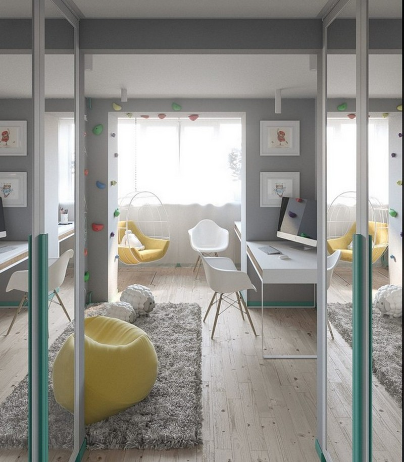 A Scandinavian Kids Bedroom Decor in a Kiev's Pied-a-Térre