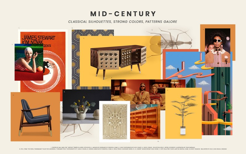 Interior Design Tips Two Moodboards Inspired by the Mid-Century Style 8