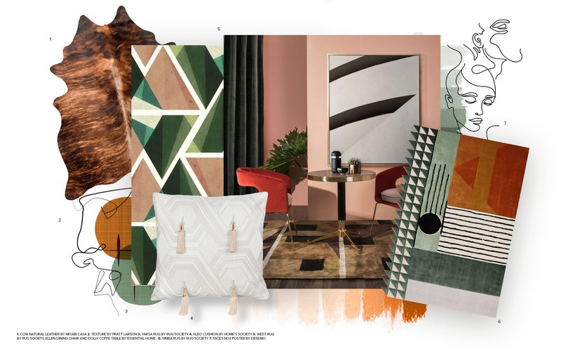 Interior Design Tips Two Moodboards Inspired by the Mid-Century Style 9