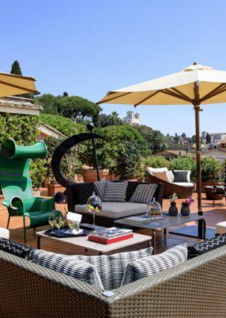 Hotels We Covet: La Russie in Rome, Italy 8 RFH Hotel de Russie Nijinsky Suite Terrace Living 320x450