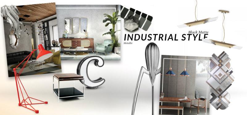 Interior Design Tips Discover a Vintage Industrial Moodboard
