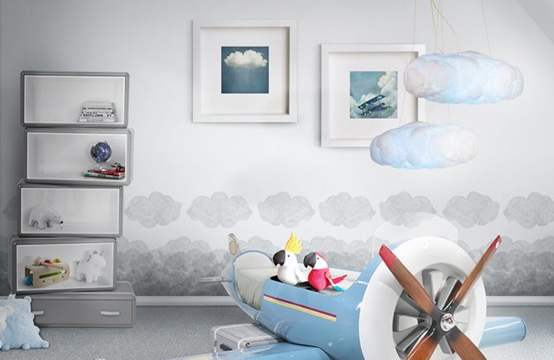 Dusk Blue Is The Spring Summer Colour Trend For 2020: Sky One Plane Bed by Circu