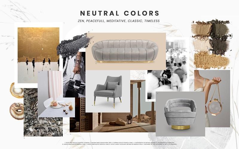 Neutrals Trend Color Scheme Moodboard Collection 1