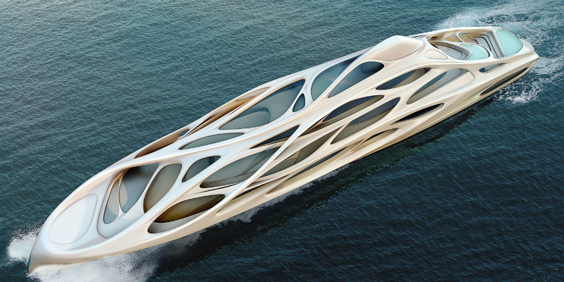 Zaha Hadid Designs An Impressive Superyacht 1