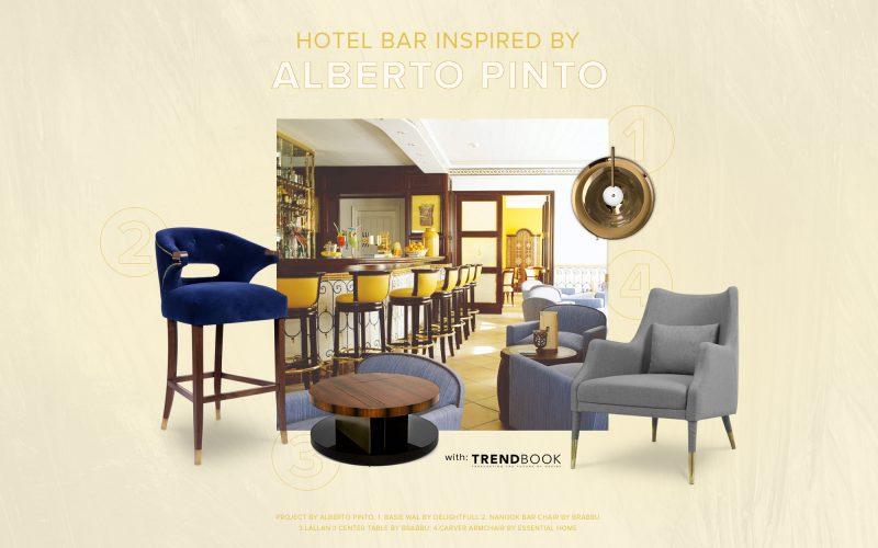Hotel Bar Inspired By The Amazing Work of Alberto Pinto Studio