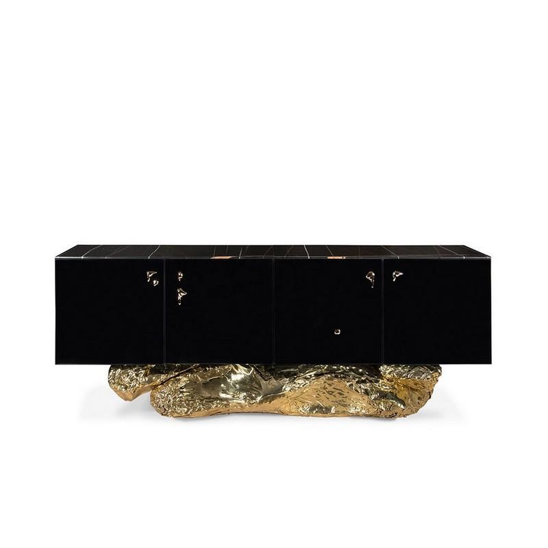Metallic Black Matte Powerful Sideboards