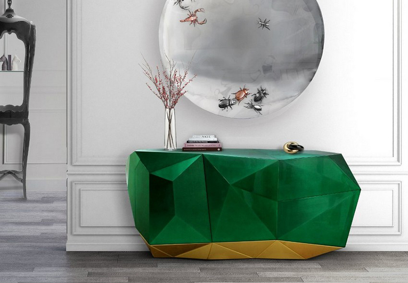 MODERN FURNITURE WITH JEWEL ORNAMENTS FOR A LUXURY HOME